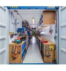 Container boite toute équipé pour BTP