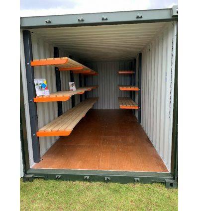 Container étagères et rayonnage