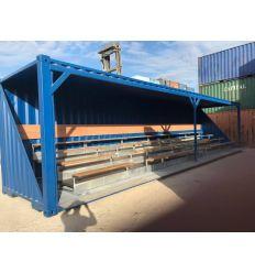 Tribune container