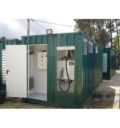 Container station carburant